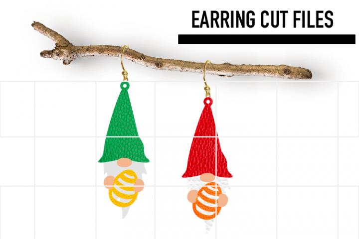 Gnome Easter Egg Earrings Svg / Earrings Template
