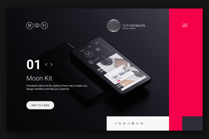 Moon 01 UI KIT for Figma