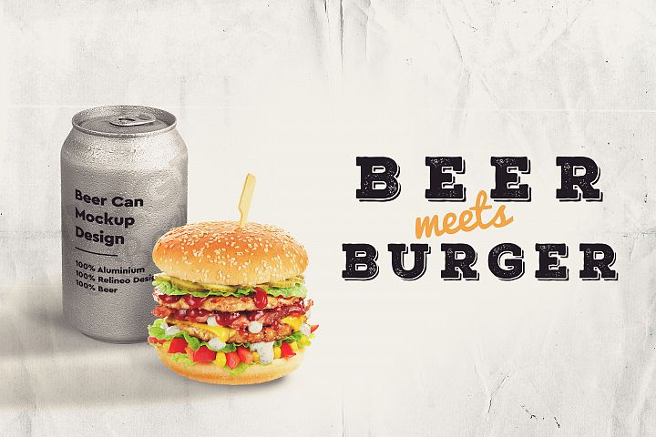Beer and Burger Mock-up #5