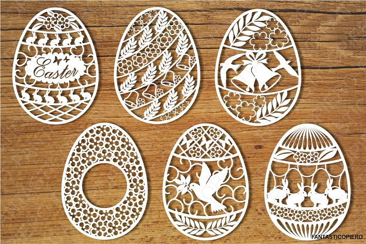 Easter eggs set 1 SVG files for Silhouette and Cricut.
