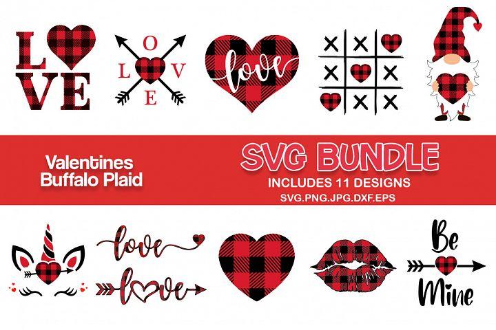 Valentines day buffalo plaid svg bundle, Valentines SVG