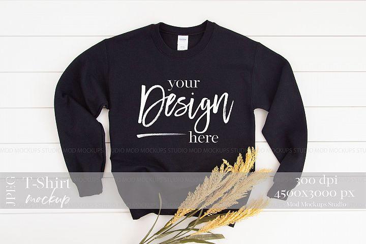 Gildan 18000 Mockup | Sweatshirt Mockup BLACK