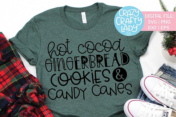 Hot Cocoa Gingerbread Cookies SVG DXF EPS PNG Cut File