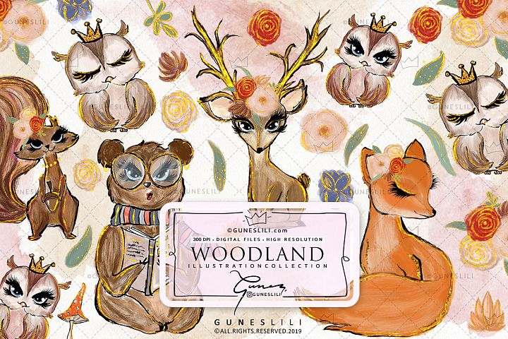 Woodland Forest Animals Clipart
