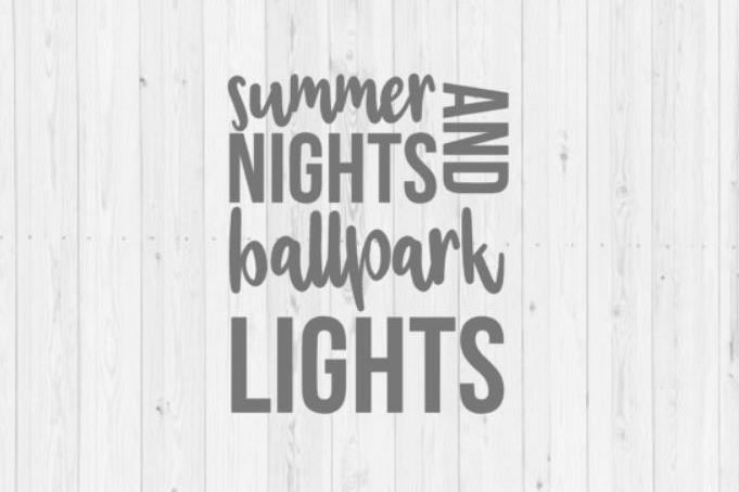 Digital download, summer svg, baseball svg, softball svg, summer nights and ballpark lights, quotes, Cricut, SVG, cut file, PNG, Silhouette