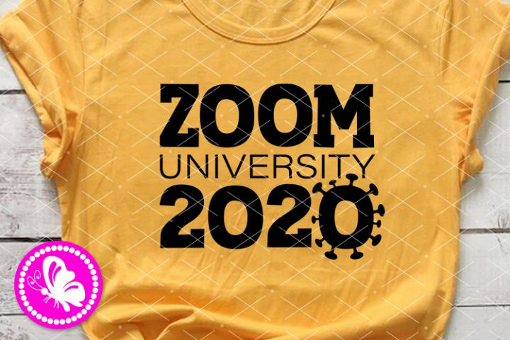 Zoom university 2020 svg Quarantine sign Social distancing