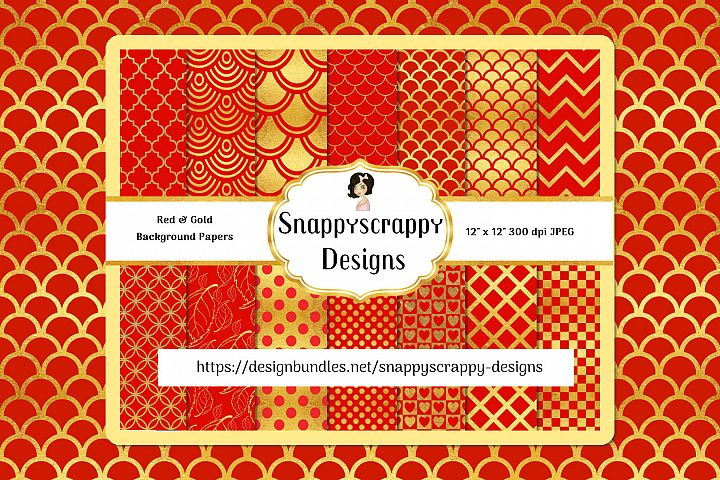 Red and Gold background Papers
