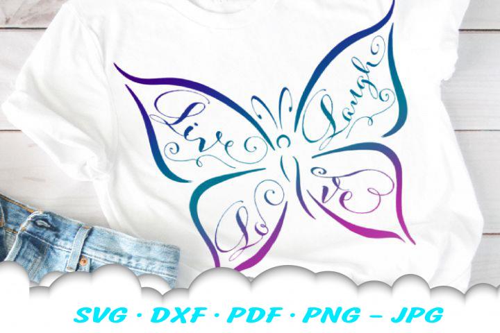 Inspirational Butterfly SVG DXF Cut Files Bundle