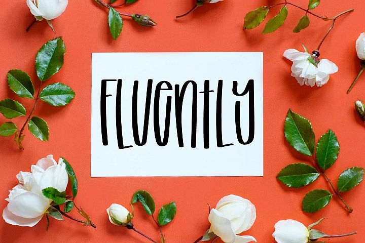 Fluently - A Tall cut-friendly Font