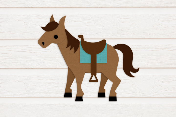 Horse with Saddle SVG Design