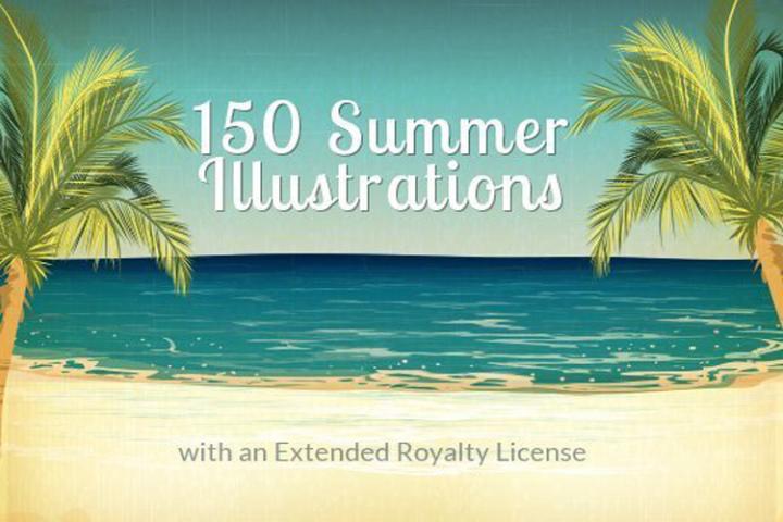 150 Summer Vector Illustrations