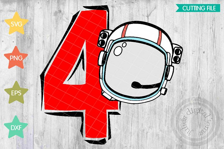 Space Birthday svg, Astronaut Birthday Party, 4th Birthday