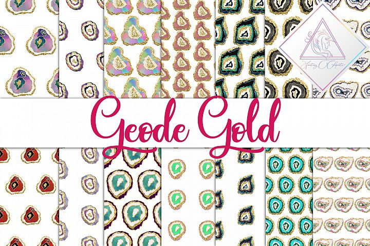 Geode Gold Digital Paper