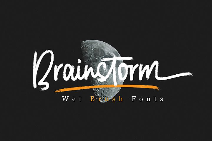 Brainstorm Wet Brush Fonts