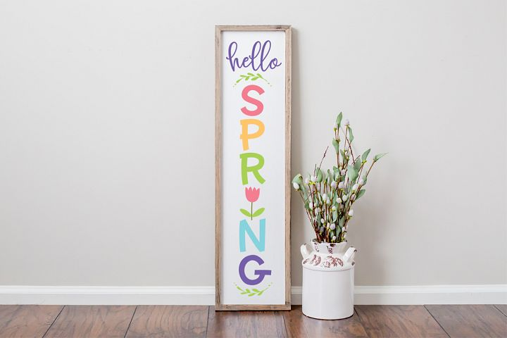 Hello Spring Front Porch Sign SVG