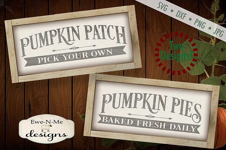 Pumpkin Patch Pumpkin Pies Fall Autumn Harvest SVG DXF