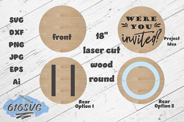 18 Inch Wood Round Laser Designed SVG