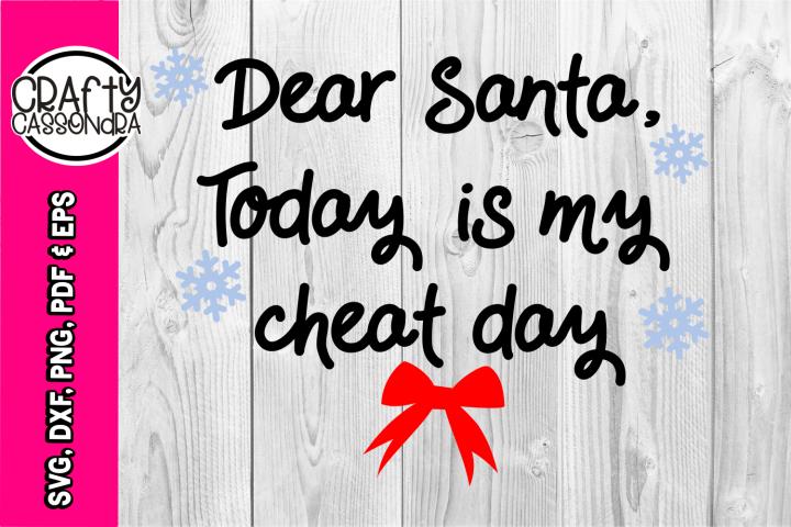 Dear santa- Funny Christmas SVG - bow svg - snow flake Xmas
