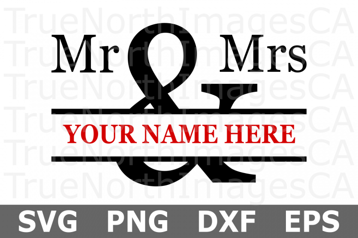 Mr and Mrs - A Wedding SVG Cut File