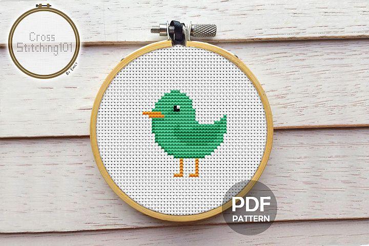 Cartoon Birdie Cross Stitch Pattern - Instant Download PDF