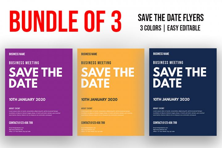 SAVE THE DATE BUNDLE- BUSINESS FLYER VOL-01
