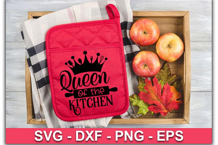 Queen of the kitchen SVG| Pot Holder Svg