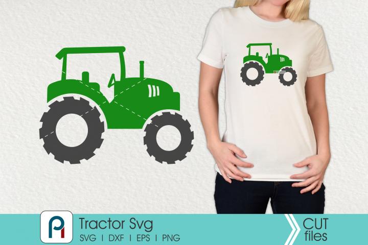 Tractor Monogram Svg - a tractor vector file