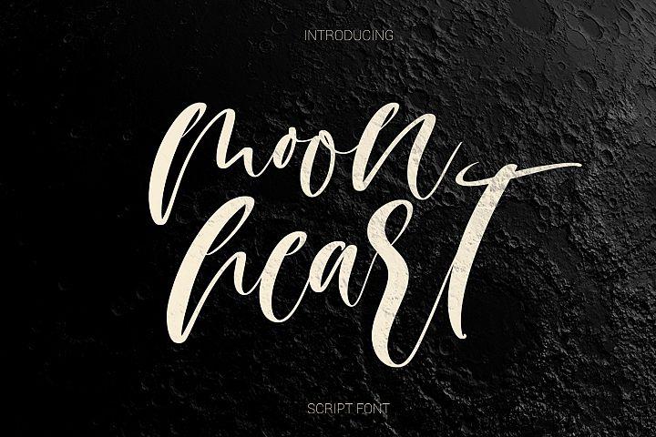 Moon heart script font