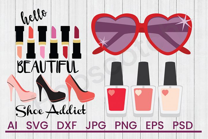 Fashion SVG Bundle, DXF File, Cuttable File