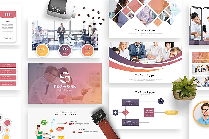 SeoWork Pitch Deck 2019 Keynote Template