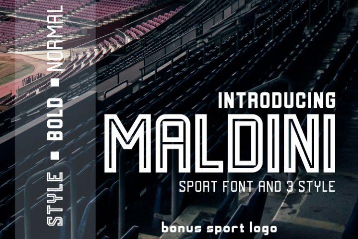 MALDINI - 3 STYLE & VECTOR LOGO
