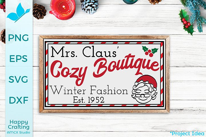 Mrs. Claus Cozy Boutique - A Cute Holiday Craft File
