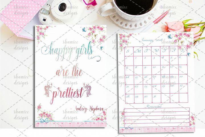 2018 pink planner pages