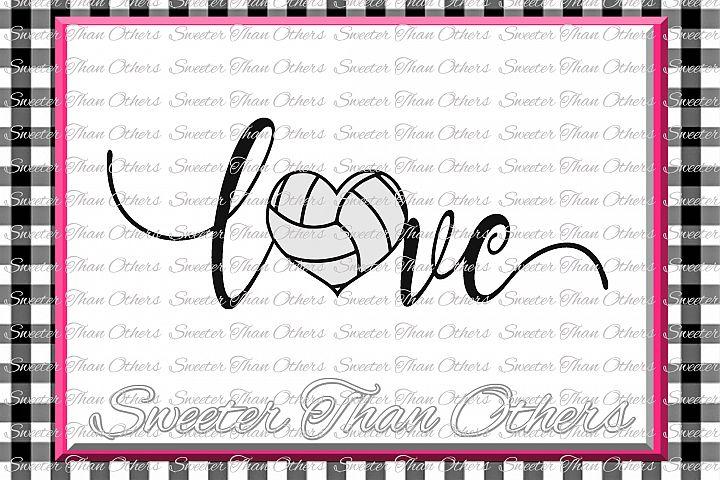 Volleyball svg Love Volleyball svg Design