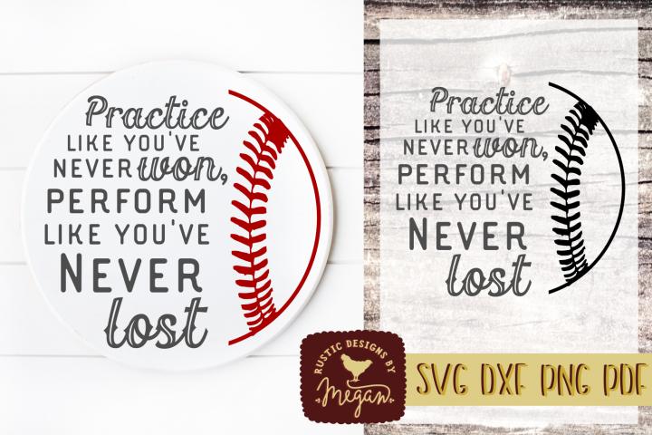 Play Like Youve Never Lost Inspirational Baseball SVG DXF