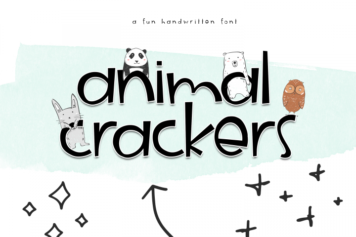 Animal Crackers - A Fun Handwritten Font - Free Font of The Week Design 5