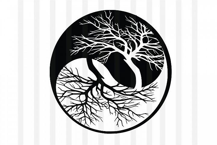 Tree,Life of tree,tree vector,Life of tee vector,yin yang