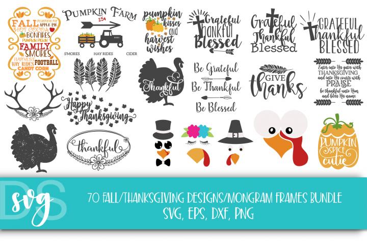 Fall, Pumpkin, Halloween, SVG, PNG, Thanksgiving Bundle, example 1