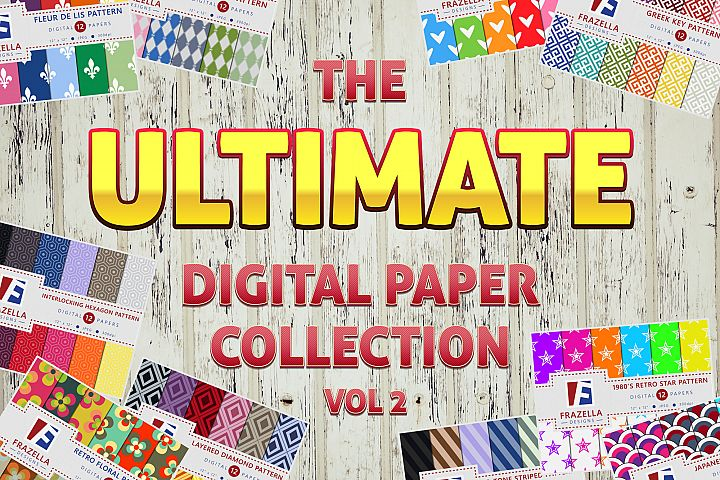 The ULTIMATE Digital Paper Bundle Vol 2