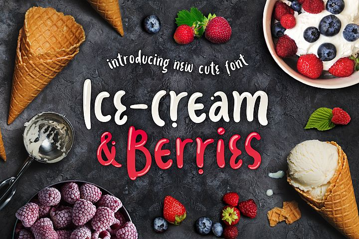 Ice-cream & Berries Font