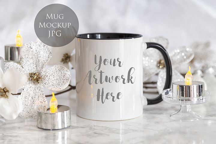 Black Handled Mug Mockup-christmas