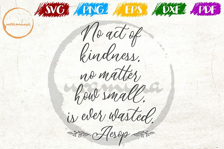 No Act Of Kindness Kids Room SVG PDF PNG