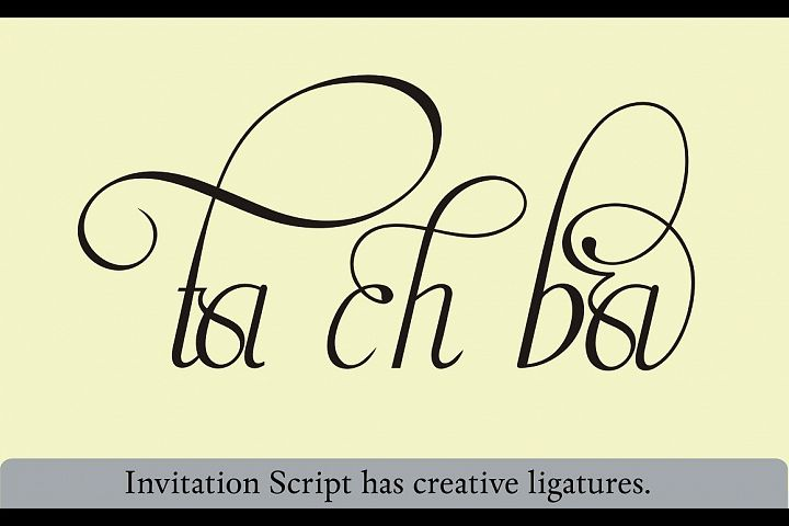 Invitation Script - Free Font of The Week Design3
