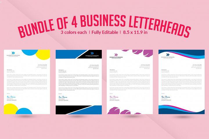 Bundle of 4 Letterheads Templates