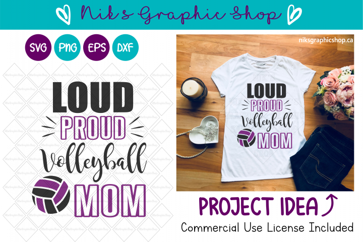 Volleyball Mom Svg, Volleyball Svg, Loud and Proud Svg