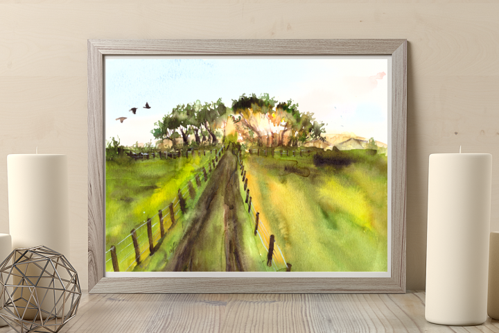 In the country - Illustration / Print