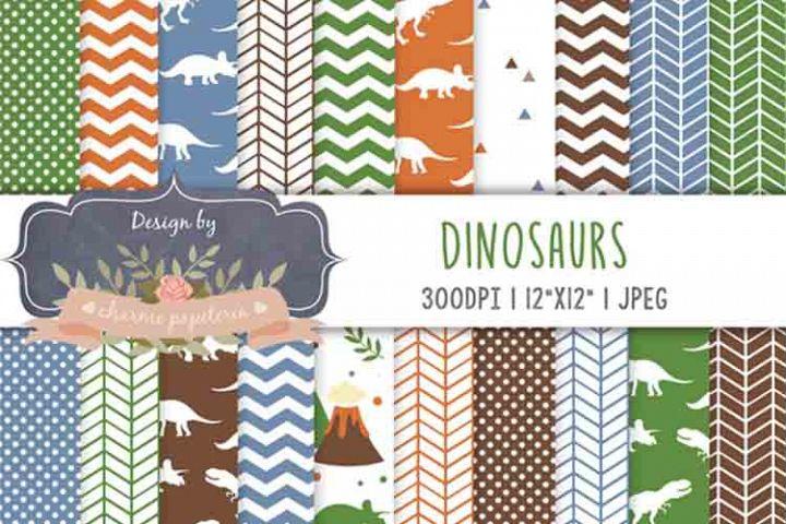 Dinosaur Digital paper, dinosaur background, jurastic