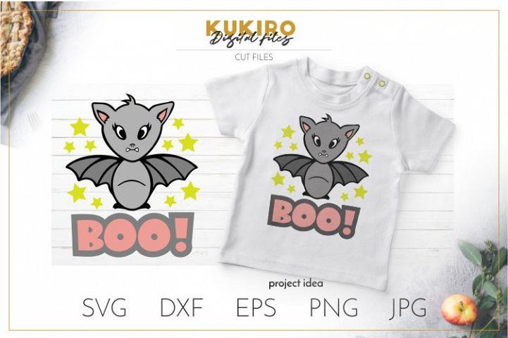Boo SVG - Baby Halloween SVG - Baby Vampire bat Svg Cut file