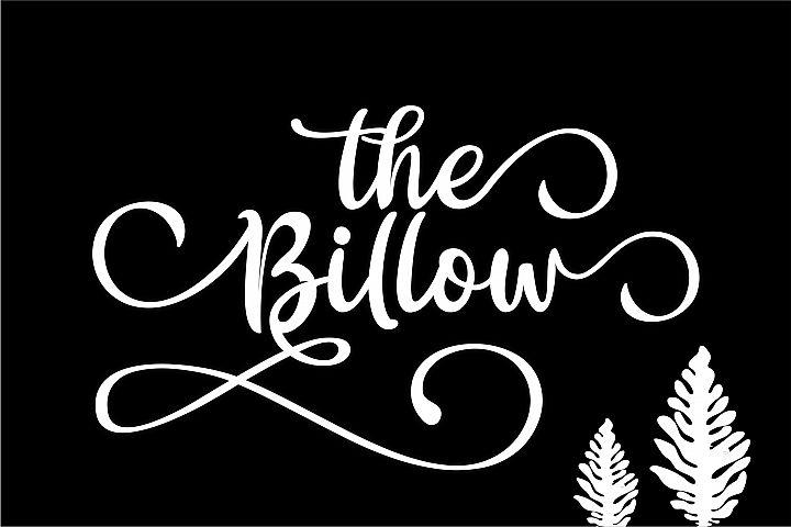 The Billow | A Handwritten Font