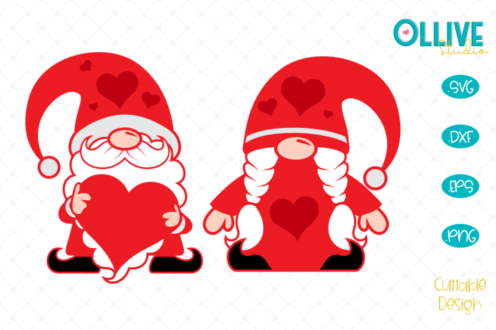 Gnomes Couple Valentines Day SVG